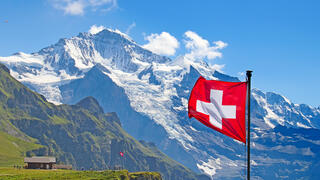 Swiss Flag in Switzerland